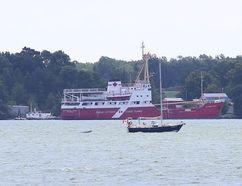<p>The Alexander Henry anchored near Sandhurst, Ont. on Tuesday, August 30, 2016. Elliot Ferguson /The Kingston Whig-Standard/Postmedia Network