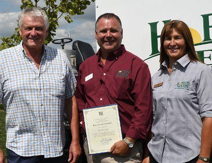 Haldimand-Norfolk MPP Toby Barrett was one of the dignitaries on hand Tuesday to congratulate Horizon Seeds (RR1 Courtland) on its 10th anniversary. (CHRIS ABBOTT/TILLSONBURG NEWS)