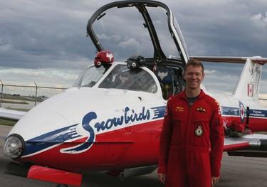 Major Steve Reed, a pilot with the Canadian Forces Snowbirds on Thursday September 1, 2016. Veronica Henri/Toronto Sun/Postmedia Network