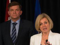 Wildrose Leader Brian Jean and Alberta Premier Rachel Notley. (Postmedia file)