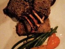 Von's delicious rack of lamb