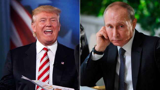 Donald Trump (left) and Vladimir Putin. (AP Photo/Evan Vucci and Mikhail Klimentyev/Sputnik, Kremlin Pool Photo via AP photos)
