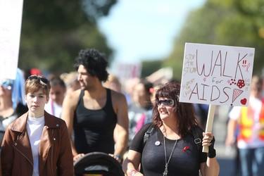 The Scotiabank Aids Walk took place in Winnipeg. Saturday, September 17, 2016.   Sun/Postmedia Network