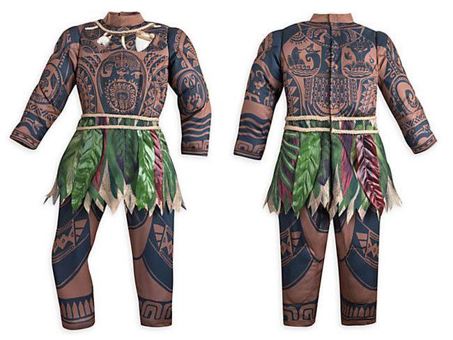 "Costume for the Polynesian God Maui for the Disney film ""Moana."" (Screenshot)"