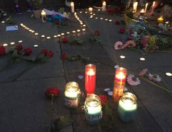 A vigil for Kareem Derr on Saturday night in Scarborough. (Maryam Shah/Toronto Sun/Postmedia Network)
