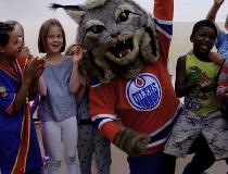 Hunter, thew new Oilers' mascot