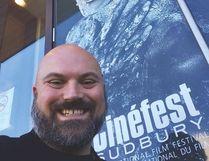 Jayson Stewart at Sudbury Cinefest Film Festival Photo supplied by Jayson Stewart