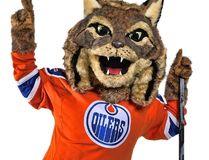 Hunter, the Oilers' new mascot. (Edmonton Oilers/NHL)