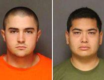 Joshua Acosta (left) and Frank Felix. (Fullerton Police Department via AP)