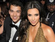 Rob and Kim Kardashian