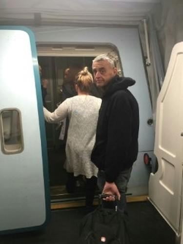 Trent Hills Mayor Hector Macmillan boards a flight to Germany on Sunday night. (PETER MACMILLAN PHOTO)