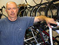 Dariuz Liersch owns Wheels & Gears on Adelaide Street. Liersch has been in the bike business since 1986. (MIKE HENSEN, The London Free Press)
