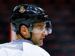 Ottawa Senators left winger Clarke MacArthur during team practice at the Canadian Tire Centre on March 14, 2016. (Errol McGihon/Postmedia)