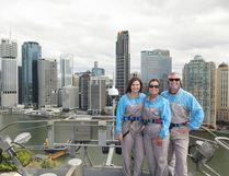 The adventurous MacNaull family, Grace, left, Kerry and Steve pose for a photo atop Story Bridge in Brisbane, Australia. PHOTO COURTESY GABY SHERIDAN