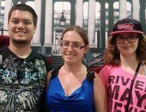 Brian McGinnis, girlfriend Lauren Bouchard, and her sister Michelle Bouchard. (GoFundMe)