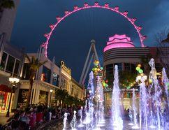 The High Roller ferris wheel lights up the skyline of the Las Vegas Strip. LAS VEGAS NEWS BUREAU PHOTO