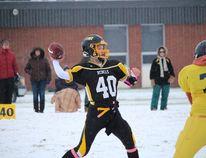 Rebels quarterback Jordan Willox threw for over 300 yards in the win over Breton.