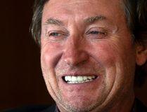 Wayne Gretzky sits down with Mike Zeisberger in Toronto on Oct. 17, 2016. (Craig Robertson/Toronto Sun/Postmedia Network)