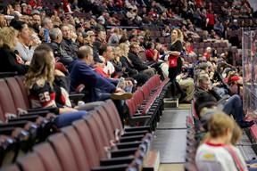 Plenty of good seats were available for Tuesday night's game between the Senators and the Arizona Coyotes at the CTC. (WAYNE CUDDINGTON/Postmedia Network)