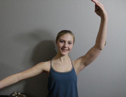 Local ballet dancer Tasarina Peacock is performing with the Alberta Ballet in Edmonton this December (Joseph Quigley   Mayerthorpe Freelancer).