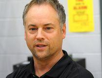Chris O'Rourke, coach of the University of Guelph Gryphons men's basketball team. (CHRIS ABBOTT/TILLSONBURG NEWS)