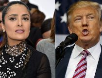 Salma Hayek and Donald Trump