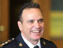 New Winnipeg Police Chief Danny Smyth speaks during a press conference in Winnipeg, Man. Monday October 24, 2016.  Brian Donogh/Winnipeg Sun/Postmedia Network