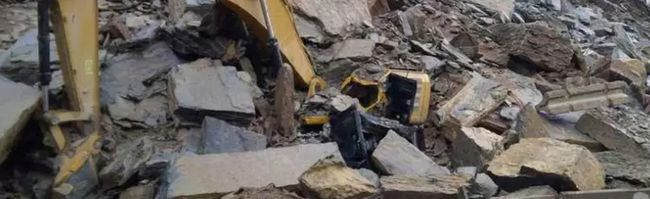 Trans-Canada rockslide