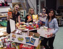 Alexa Blizzard, Kassie Ings, Nicole Sanchez and Jamie Blatz took part in last year's Trick or Eat. (supplied photo)