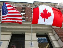 america canada flags