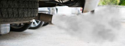 Carbon monoxide from car