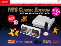 NES Classic Edition. (Website screenshot)