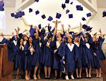 PAUL KRAJEWSKI HIGH RIVER TIMES/POSTMEDIA NETWORK. High River's Notre Dame Collegiate graduating class of 2016.