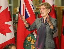 Ontario Premier Kathleen Wynne and Toronto Mayor John Tory announcing photo radar in school zones , at Northlea Public School in Leaside, on November 10, 2016. (Stan Behal/Postmedia Network)
