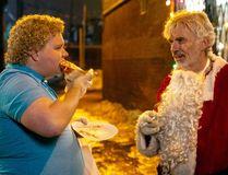 "Brett Kelly stars as Thurman Merman and Billy Bob Thornton as Willie Soke in ""Bad Santa 2."""