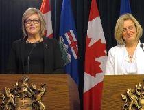NW Calgary MLA Sandra Jansen and Alberta Premier Rachel Notley
