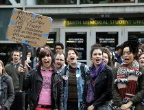 Student Trump protest