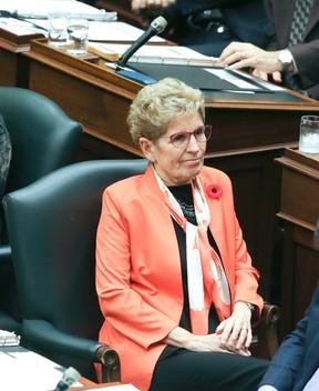 Premier Kathleen Wynne at Queen's Park on November 2, 2016. (Veronica Henri/Toronto Sun)
