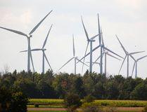 Wind turbines near Strathroy, Ont., west of London. (Mike Hensen/Postmedia Network)