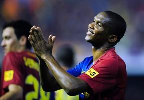 Spanish prosecutors are seeking a 10-year prison term for former Barcelona striker Samuel Eto'o for alleged tax crimes. (Manu Fernandez/AP Photo/Files)