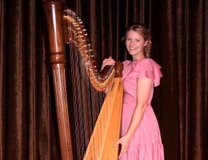 Linnae Biegel recently earned an RCM gold medal in Grade 8 harp. Supplied