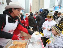 A pancake breakfast is served during Grey Cup week in Toronto on Friday, Nov. 25, 2016. (Veronica Henri/Toronto Sun)
