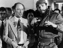 Pierre Elliott Trudeu and Fidel Castro