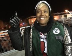 Renee Hill, mom of Mylan Hicks, at BMO Field on Sunday, Nov. 27, 2016 (Joe Warmington/Toronto Sun/Postmedia Network)