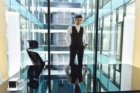 Sean Teale stars in Ben Affleck and Matt Damon's new sci-fi thriller series Incorporated. (Handout)