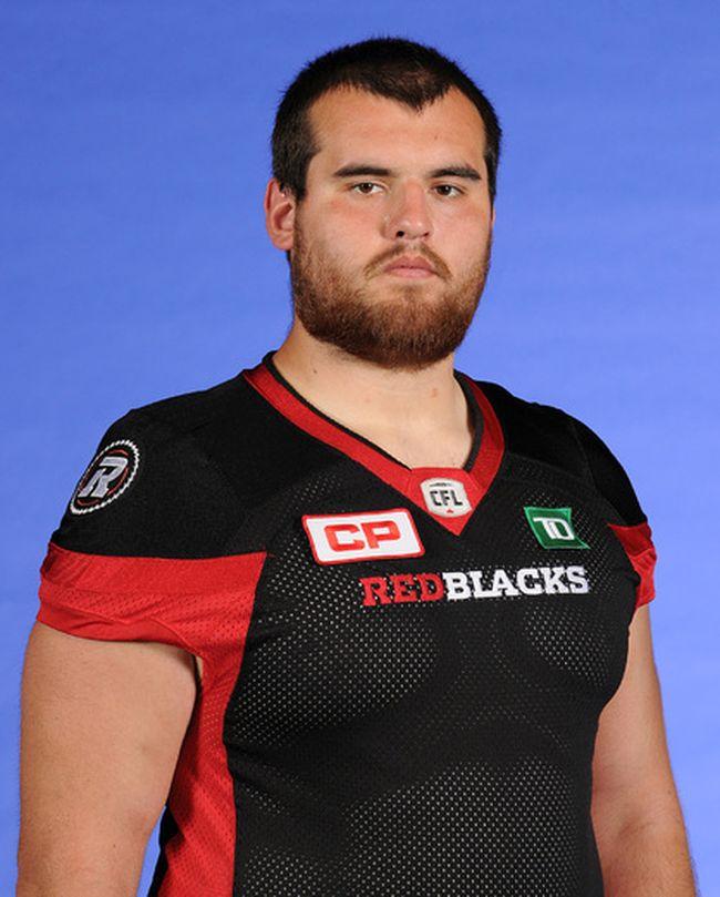 Ottawa Redblacks offensive lineman Randy Beardy. (Canadian Football League Photo)