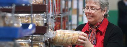 Calgary Food bank shelves