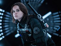 "Felicity Jones as Jyn Erso in a scene from, ""Rogue One: A Star Wars Story."" (Jonathan Olley/Lucasfilm Ltd./HO)"
