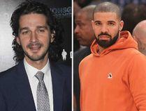 Shia Labeouf and Drake. (WENN.COM)