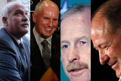 John Davidson, Doug Armstrong, Jim Nill, Kevin Lowe